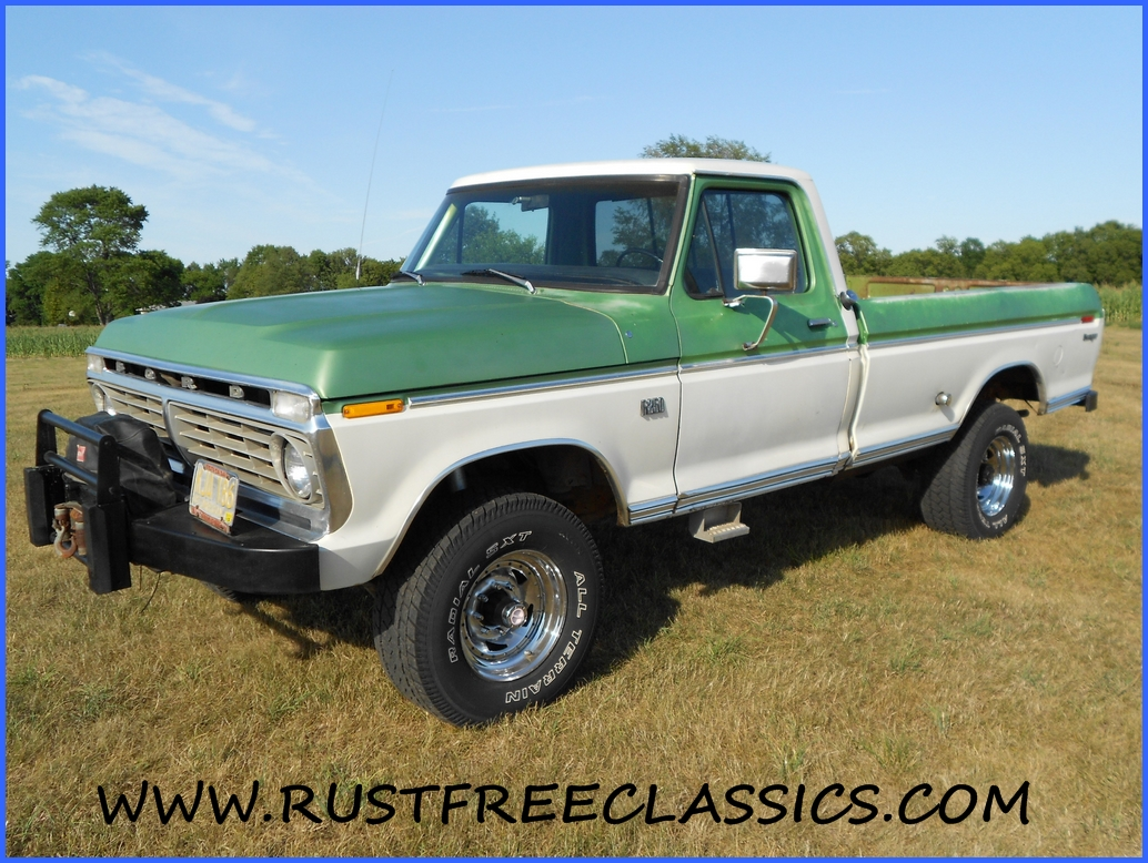 1973 F250 Highboy Ranger 390 4 speed Green White